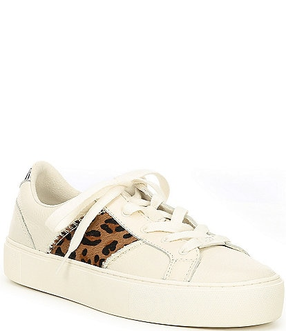 UGG® Dinale Exotic Leopard Print Cow Hair Sneakers