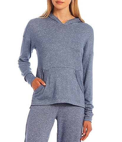 UGG Elettra Solid Brushed Knit Long Sleeve Coordinating Lounge Hoodie