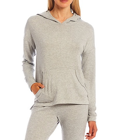 UGG® Elettra Solid Brushed Knit Long Sleeve Coordinating Lounge Hoodie