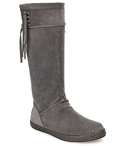 UGG® Emerie Tall Suede Fringe Boots