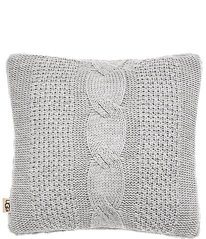 UGG Erie Cable Knit and Faux Fur Pillow