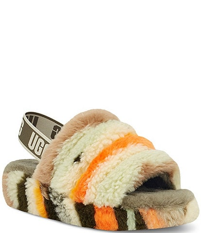 UGG® Fluff Yeah Cali Collage Faux Shearling Slides