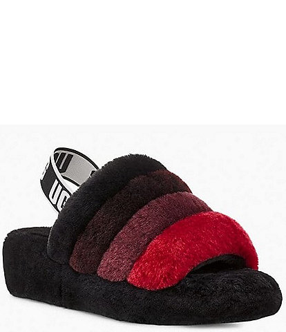 UGG® Logo Fluff Yeah Multi-Color Fur Slides
