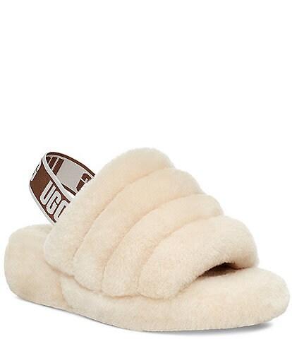 UGG® Logo Fluff Yeah Fur Slides