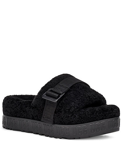 UGG® Fluffita Metal Buckle Fur Slides