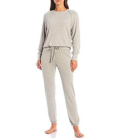 UGG® Gable Solid Brushed Knit Crew Neck Sweatshirt & Joggers Lounge Set
