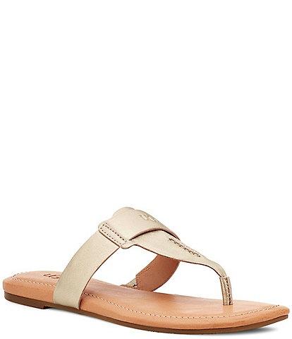 UGG® Gaila Leather Thong Sandals
