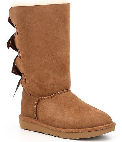 UGG® Girls' Bailey Bow Suede Tall II Boots