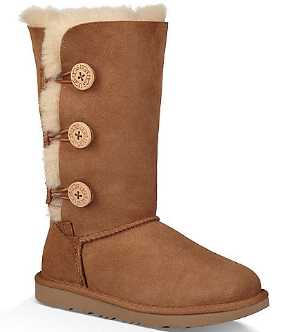 UGG® Girls' Bailey Button Triplet II Boots (Youth)