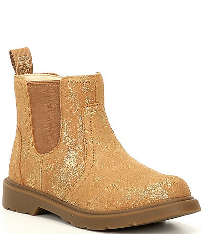 UGG® Girls' Bolden Metallic Suede Chelsea Boots (Youth)