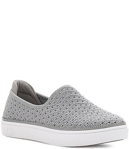UGG® Girls' Caplan Slip-On Metallic Sneakers (Toddler)