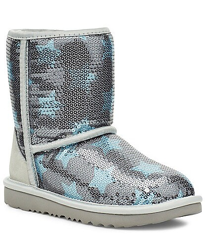 UGG Girls' Classic Short II Sequin Star Boots Infant