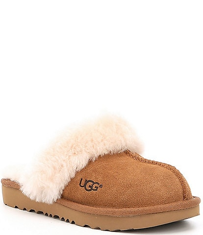 UGG® Kids' Cozy II Suede Slip-On Slippers Youth