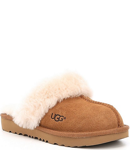 UGG® Girls' Cozy II Suede Slip-On Slippers (Toddler)
