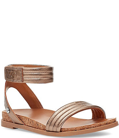UGG® Girls' Ethena Metallic Sandals (Youth)