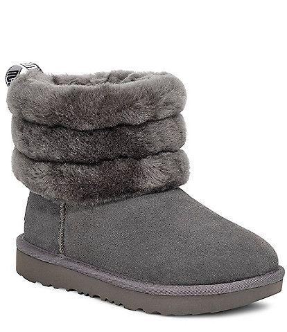 UGG Girls' Fluff Mini Quilted Boot