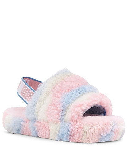 UGG® Girls' Fluff Yeah Cali Collage Slides (Youth)