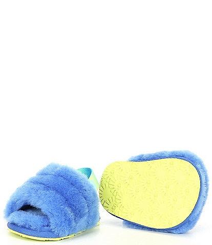 UGG® Girls' Fluff Yeah I Slide Crib Fur Shoes (Infant)
