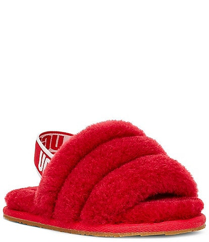 UGG Girls' Fluff Yeah Slide Crib Shoes