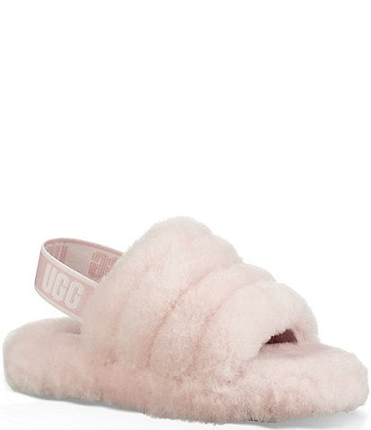 UGG® Logo Girls' Fluff Yeah Slides