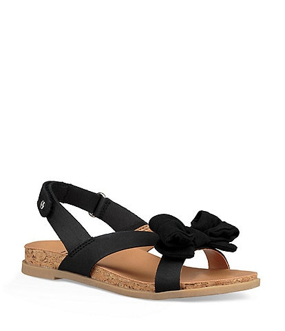 UGG® Girls' Fonda Bow Detail Sandals