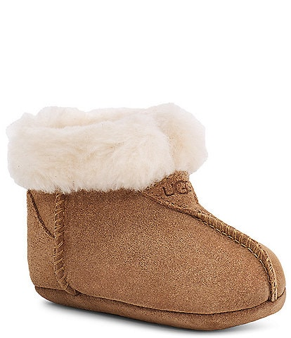 UGG® Girl's Gojee Suede Boot Crib Shoes (Infant)