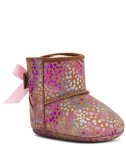 UGG® Girl's Jesse Bow II Spots Bootie Crib Shoes (Infant)