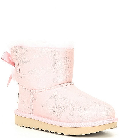 UGG® Girls' Mini Bailey Bow II Shimmer Boots (Infant)