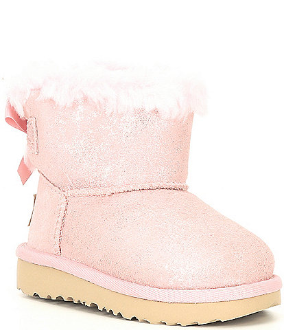 UGG® Girls' Mini Bailey Bow II Shimmer Boots (Toddler)