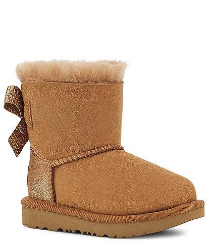 UGG® Girls' Mini Bailey Bow Metallic Detail Boots (Infant)
