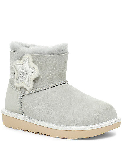 UGG® Girls' Mini Bailey Button Star Boots (Youth)
