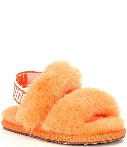 UGG® Girls' Oh Yeah Fur Slippers (Infant)