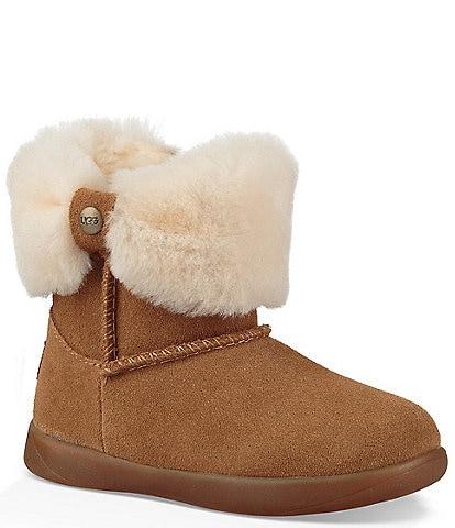 UGG® Girls' Ramona Suede Crib Boots (Infant)