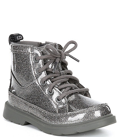 UGG® Girls' Robley Glitter Lace-Up Boots (Toddler)