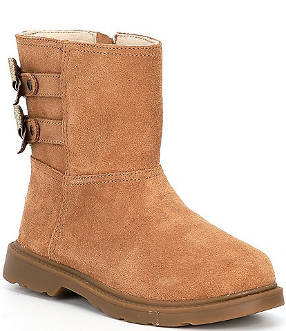 UGG® Girls' Tillee Suede Bow Boots (Toddler)