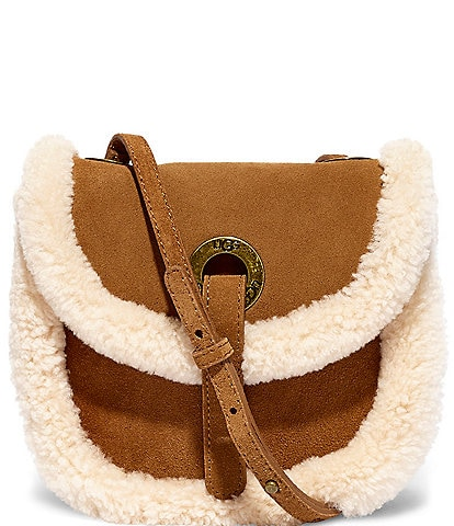UGG Heritage Sheepskin Trim Crossbody Bag