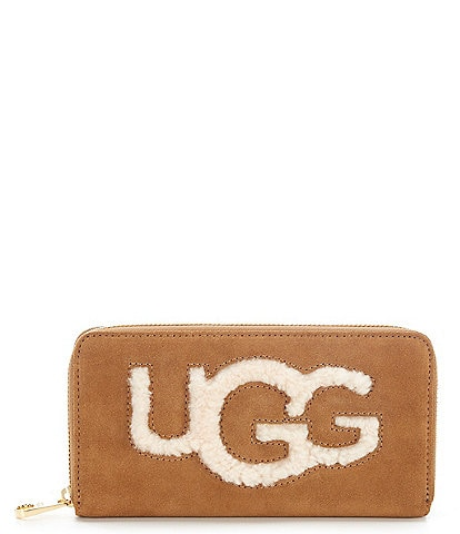 UGG Honey Sheepskin Zip-Around Wallet