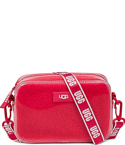 UGG Janey II Clear UGG Plush Signature Crossbody Bag