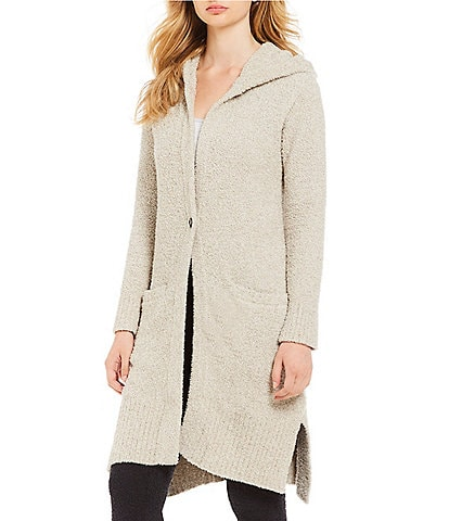 UGG Judith Sweater-Knit Hooded Lounge Cardigan
