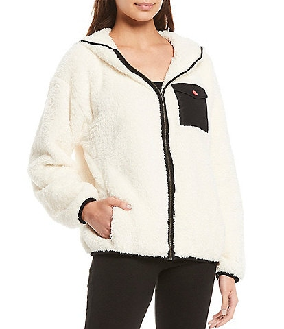 UGG Kadence Sherpa Fleece Hoodie Lounge Jacket