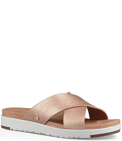 UGG® Kari Metallic Leather Slides