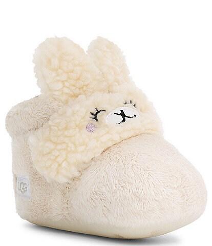 UGG® Kid's Bixbee Llama Stuffie Fleece Bootie Crib Shoes (Infant)