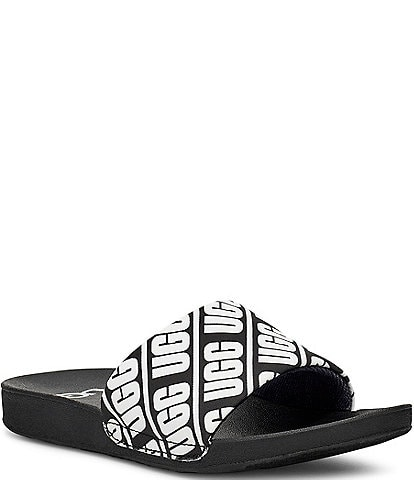 UGG Kids' Beach Logo Graphic Slides Youth