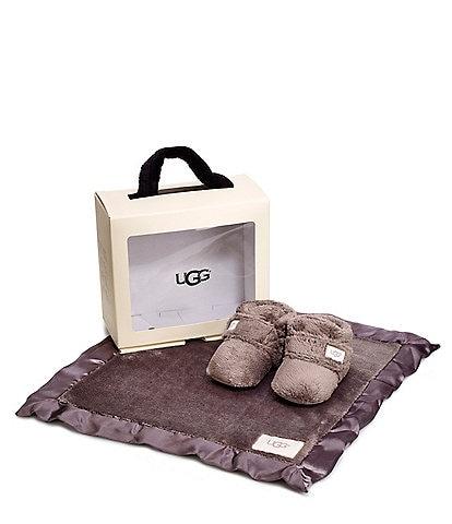 UGG® Kid's Bixbee Crib Shoe And Lovey Gift Set