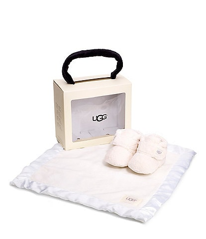 UGG® Kid's Bixbee Crib Shoe And Lovey Blanket Gift Set