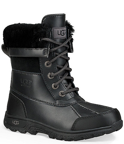 UGG® Kid's Butte II Cold Weather Waterproof and Leather Boot
