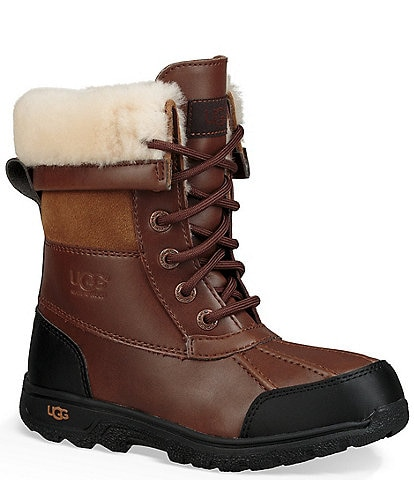 UGG® Kids' Butte II Waterproof and Leather Winter Boots (Youth)