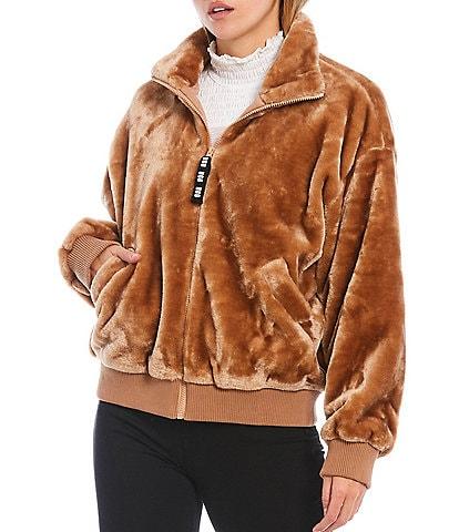 UGG® Laken Full Zip Funnel Neck Sherpa Cozy Coat