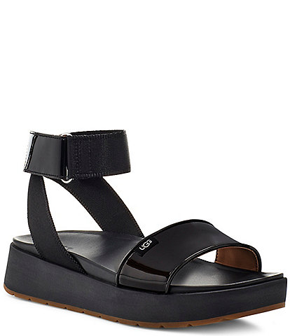 UGG® Lennox Patent Banded Square Toe Sandals