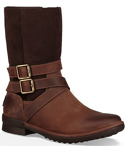 UGG® Lorna Waterproof Leather and Suede Boots